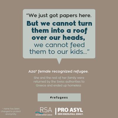Aza* female recognized refugee