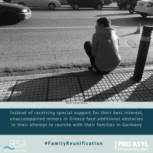 Instead of receiving special support for their best interest, unaccompanied minors in Greece face additional obstacles in their attempt to reunite with their families in Germany.