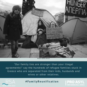 """Our family ties are stronger than your illegal agreements!"" say the hundreds of refugee families stuck in Greece who are separated from their kids, husbands and wives or other relatives."