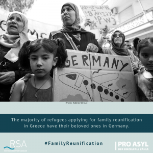 The majority of refugees applying for family reunification in Greece have their beloved ones in Germany.