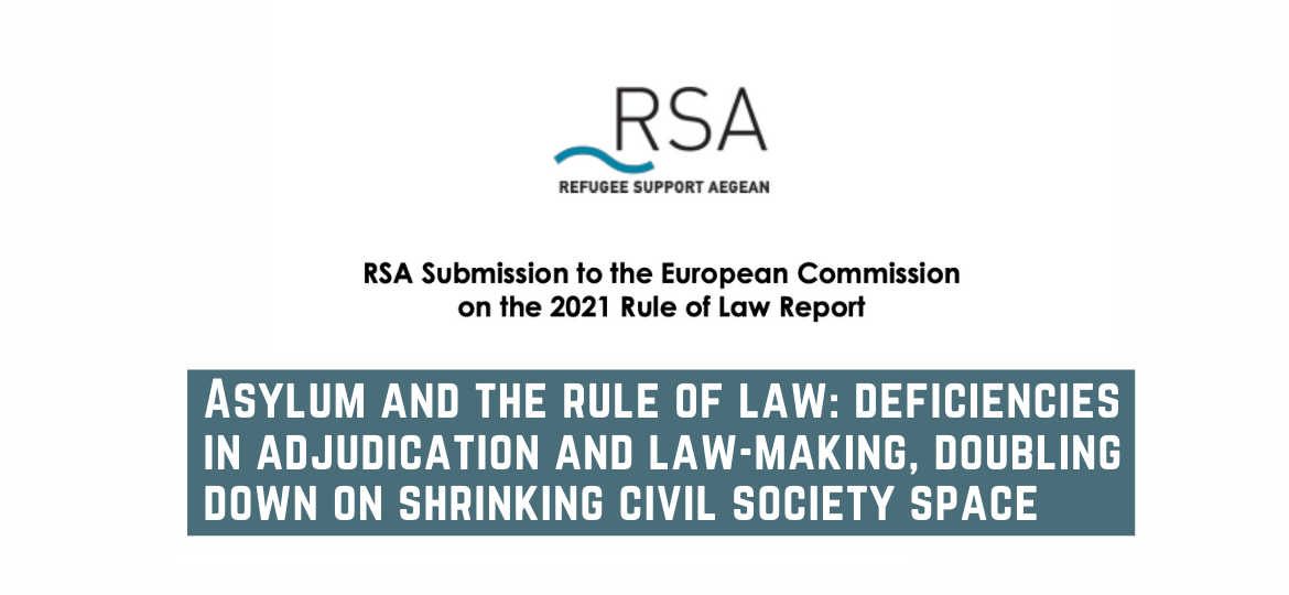 Asylum and the rule of law: deficiencies in adjudication and law-making, doubling down on shrinking civil society space